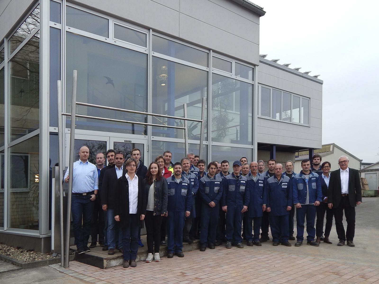 Mitarbeiter Ballweg+Büttner-Gebäude